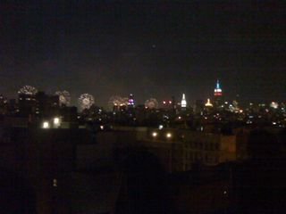 Macy's Fireworks Over The Hudson As Viewed From Ave C