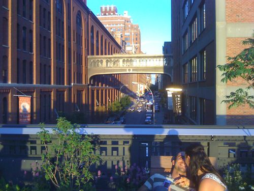 Lovers At Sunset On The High Line